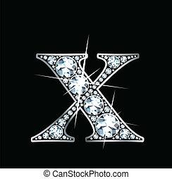 x, diamant, vecteur, -, (eps)