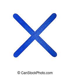 English alphabet by blue wood