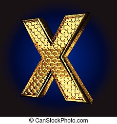 x golden letter
