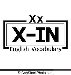 X-IN english word vocabulary illustration design