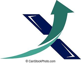 x, initiale, icône
