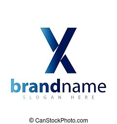 x letter logo icon vector template