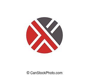 X Letter Logo Template vector