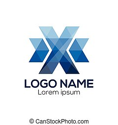 X Letter Logo vector template. Colorful letter X logo vector template