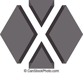 X logo 3d Design