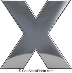 x, métal, lettre