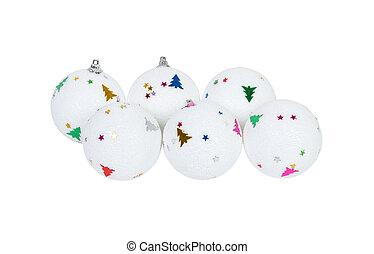 x - mamis, aislado, decoración, árbol, pelota blanca,...