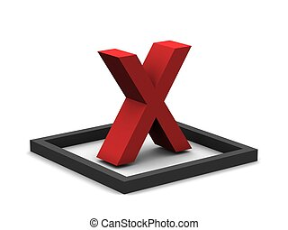 X Mark - A red X mark.