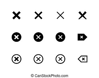 X marks, delete, cancel vector icons
