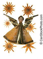 x-mas angel - old selfmade christmas angel