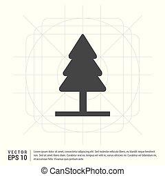 x-mas, arbre, icône