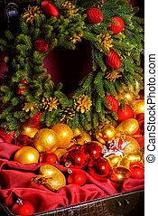 x-mas decorations - Treasure chest with Christmas...