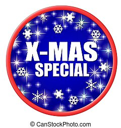x-mas special button