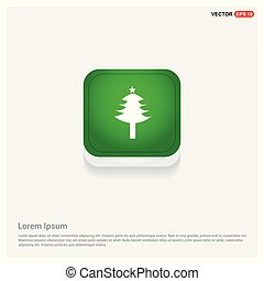 X-Mas Tree Icon Green Web Button