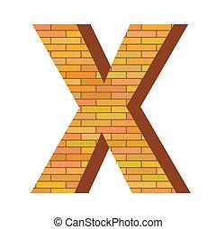 x, mattone, lettera