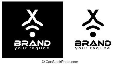 X online logo template, stock logo template.