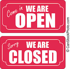 x, ouvert, fermé