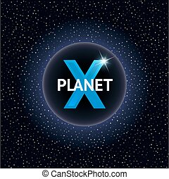 X Planet vector illustration. Design concept for cosmic...