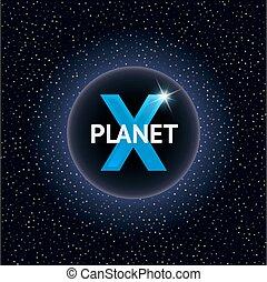 X Planet vector illustration. Design concept for cosmic...