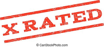 X Rated Watermark Stamp - X Rated watermark stamp. Text...