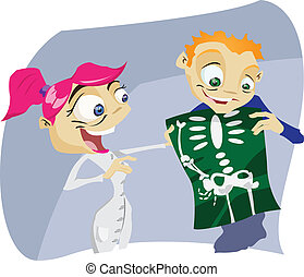 X-Ray - A colorful cartoon nurse with X-ray results. ...