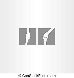 x ray bone vector icon design