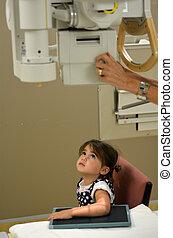 X-ray - Children - KAITAIA, NZ - MAR 06: Little girl (Talya ...