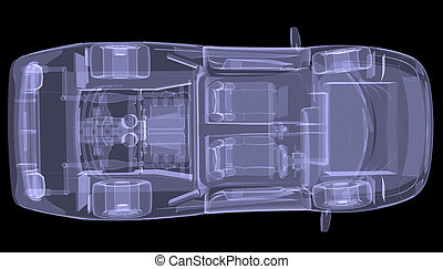 X-ray concept car. Top view