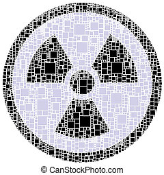 X ray danger sign inside a circle - The figure is composed ...