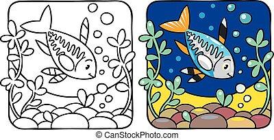 X-ray fish coloring book