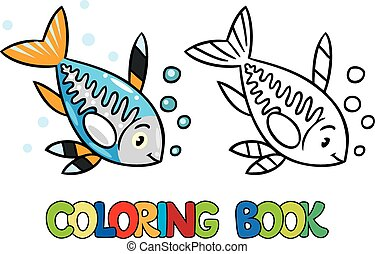 X Ray Fish Coloring Book