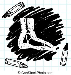 x-ray foot doodle