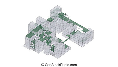Architecture exploded diagram a complicated of architecture x ray green architecture ccuart Images