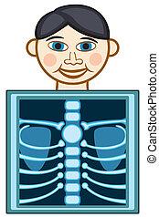 X-ray icon on white background