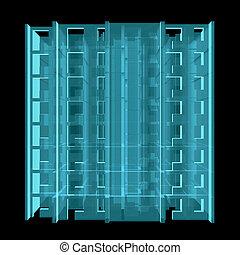 X-Ray. Model Floor of Apartment Block