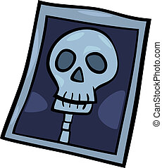 x-ray photo clip art cartoon illustration - Cartoon...
