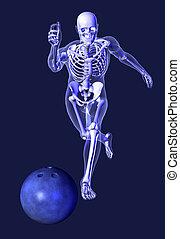 X-ray Skeleton - Bowling