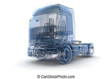 An x-ray truck