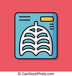 X-rays medical vector icon