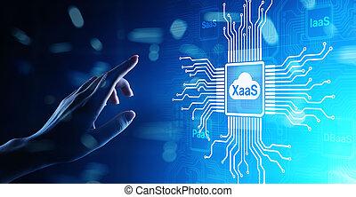 Xaa S Paa S Saa S Iaa S DBaa S Infrasstructure Service Data Base Platform development solution for business.