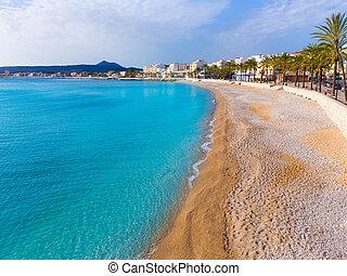 xabia, la, javea, alicante, playa, grava, 浜, スペイン