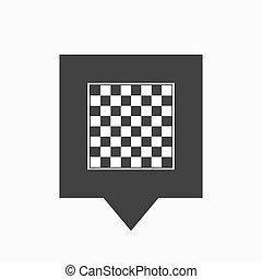 xadrez, isolado, tooltip, tábua