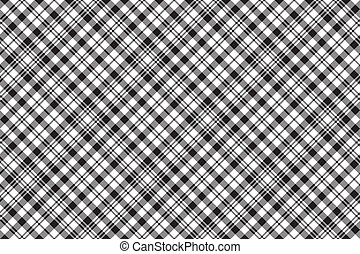 xadrez, padrão, relógio, seamless, pretas, tartan, cheque