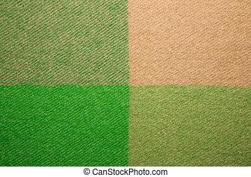 xadrez, tiro, macro, textura, verde, laranja, lã