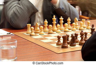 xadrez, tournament., começando, de, jogo xadrez,...