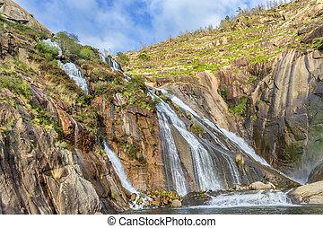 Xallas river waterfall