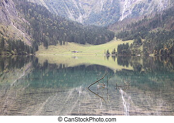 This is a picture of obersee, just as a Xanadu. perfect refelction and environment will give people a wonderful feeling.