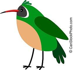 Xantus green cartoon bird icon