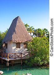 xcaret, casa, tradicional, cozumel, méxico, costa mar, ...
