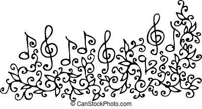 xci, zenés, könyvcímrajz